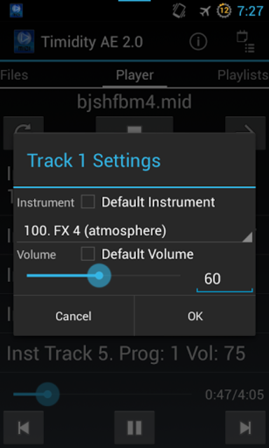 Timidity AE MIDI Player screenshot 4