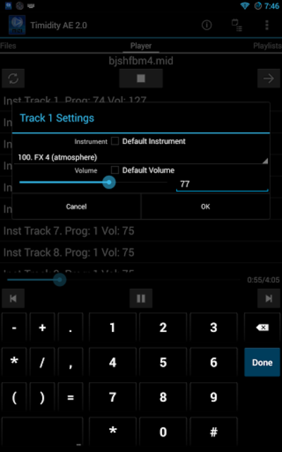 Timidity AE MIDI Player screenshot 10