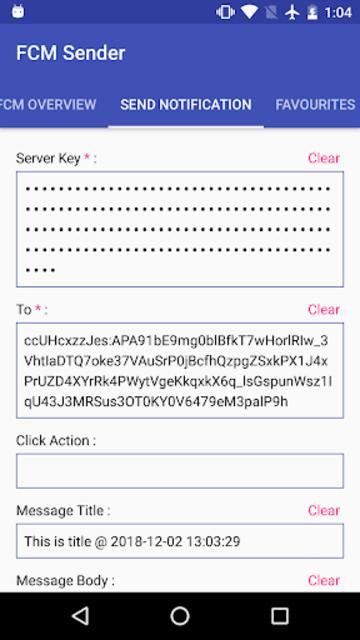 FCM Sender screenshot 3