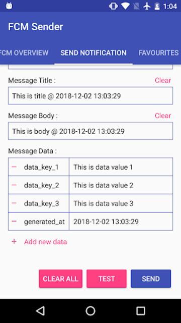 FCM Sender screenshot 4