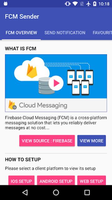 FCM Sender screenshot 1