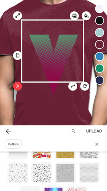 T-shirt design - Yayprint screenshot 4