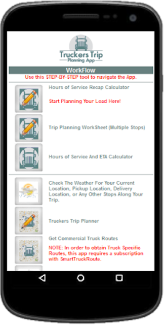 Truckers Trip Planning App (Solo Company Drivers ) screenshot 2