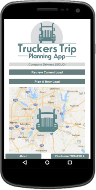 Truckers Trip Planning App (Solo Company Drivers ) screenshot 1