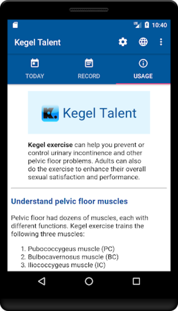Kegel Talent screenshot 3