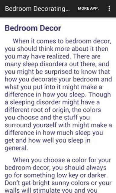 Bedroom Decorating Ideas screenshot 8