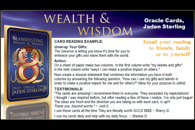 Wealth & Wisdom Oracle Cards screenshot 3