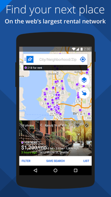 Apartments & Rentals - Zillow screenshot 1