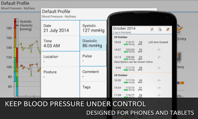 Blood Pressure Log - MyDiary screenshot 9