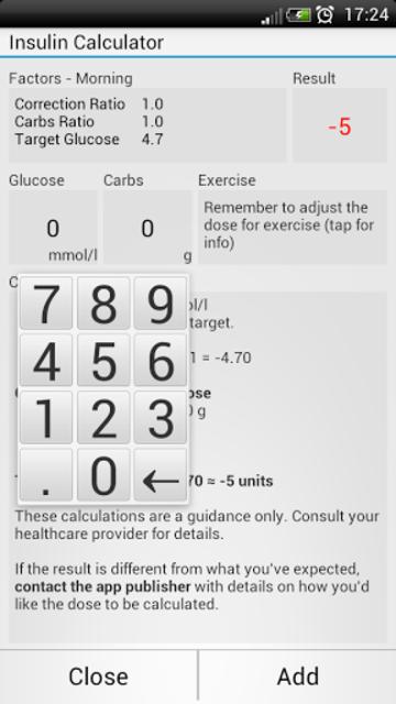 Diabetes Tools - Glucose screenshot 4