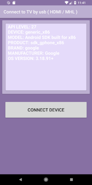Connect to TV by usb ( HDMI / MHL ) screenshot 3