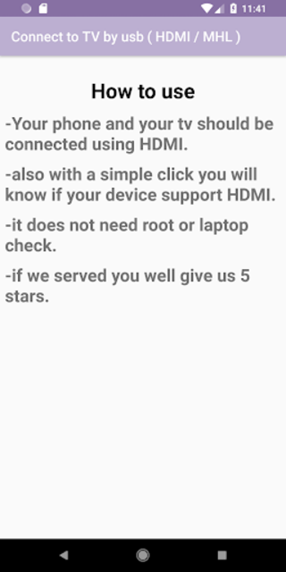 Connect to TV by usb ( HDMI / MHL ) screenshot 5