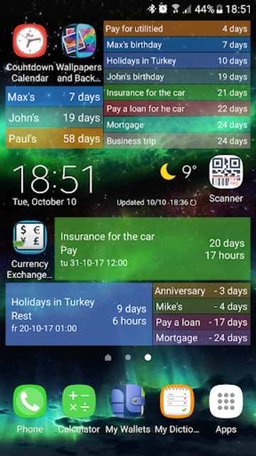 Countdown Calendar screenshot 3