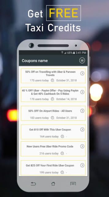 Coupon Codes for Uber screenshot 2
