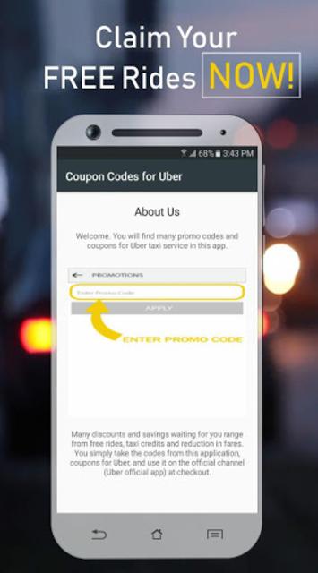 Coupon Codes for Uber screenshot 4