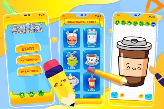 Learn How to Draw Cute Drinks screenshot 1