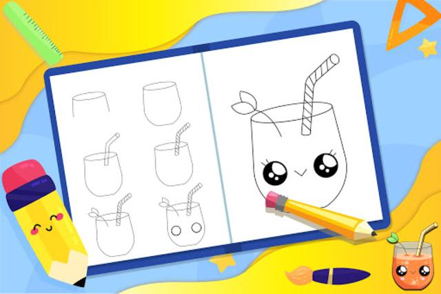 Learn How to Draw Cute Drinks screenshot 4