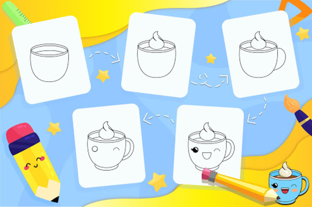 Learn How to Draw Cute Drinks screenshot 5