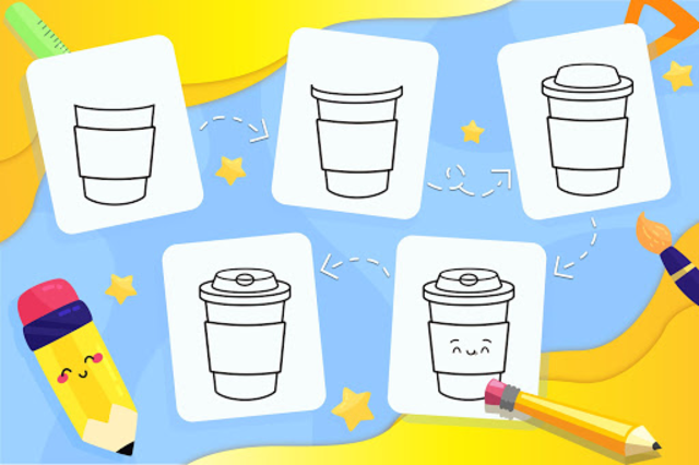 Learn How to Draw Cute Drinks screenshot 7