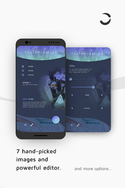 CurvingUI for Kustom KLWP screenshot 4