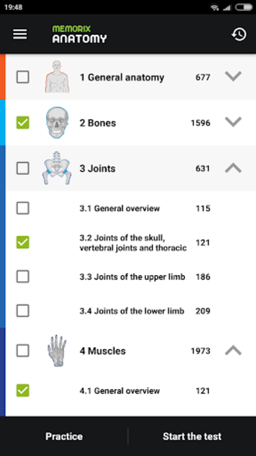 Memorix Anatomy QUIZ screenshot 1
