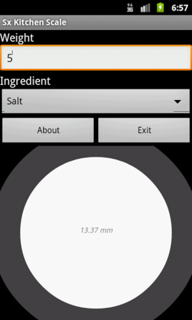 Kitchen Scale screenshot 1