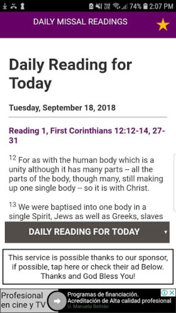 Daily Mass (Catholic Church Daily Mass Readings) screenshot 2