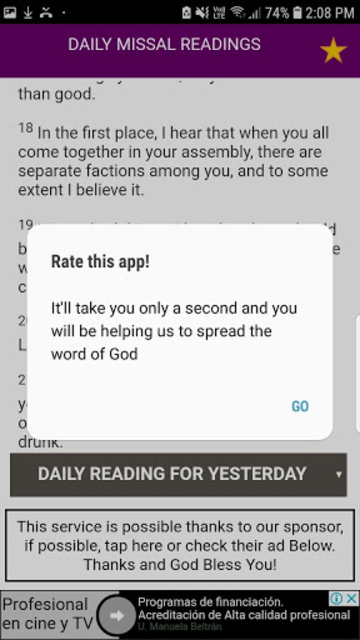 Daily Mass (Catholic Church Daily Mass Readings) screenshot 3