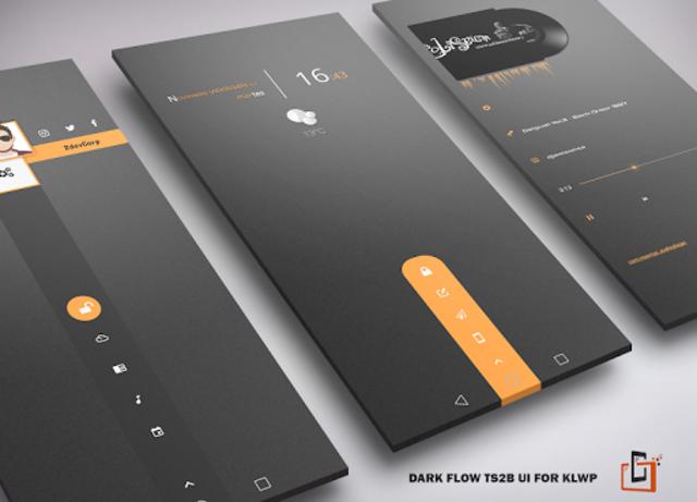 Dark Flow TS2B UI for Klwp screenshot 1