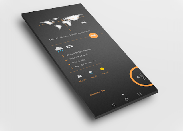 Dark Flow TS2B UI for Klwp screenshot 7