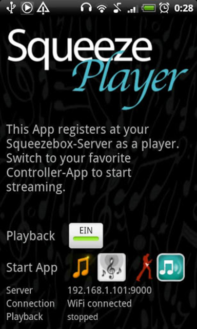 SqueezePlayer screenshot 1