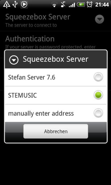 SqueezePlayer screenshot 2