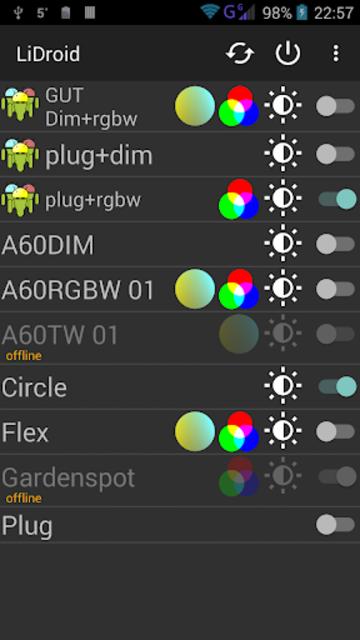 LiDroid for Lightify screenshot 1