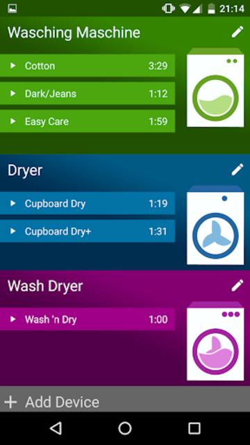 Washy! Laundry Timer screenshot 1