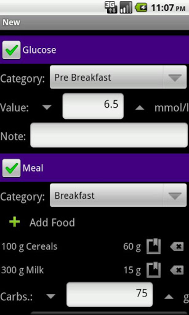 DiaLog: Diabetes Logbook screenshot 1