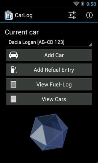 CarLog screenshot 1