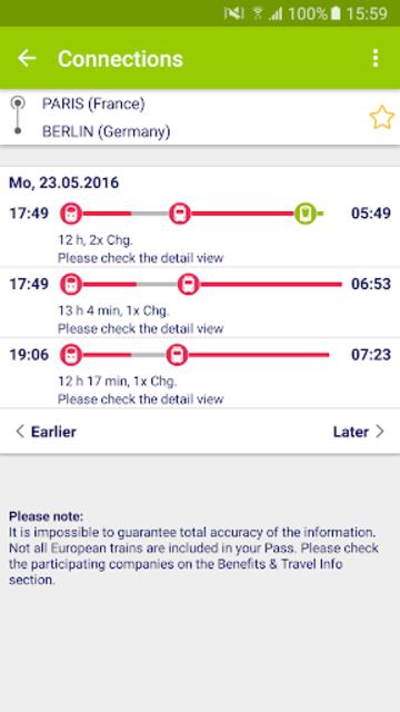 Rail Planner  Eurail/Interrail screenshot 4