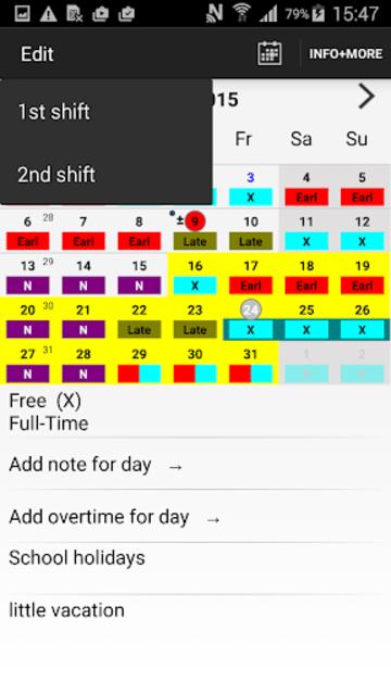 Roster-Calendar Pro screenshot 3