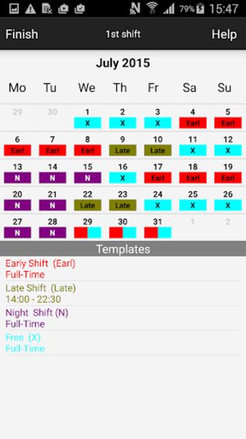 Roster-Calendar Pro screenshot 4