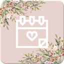 Icon for Wedding Countdown Boho Vintage Flower Widget