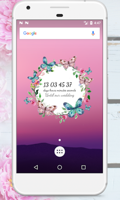 Wedding Countdown Boho Vintage Flower Widget screenshot 8