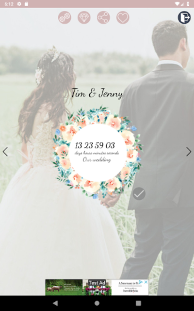 Wedding Countdown Boho Vintage Flower Widget screenshot 11