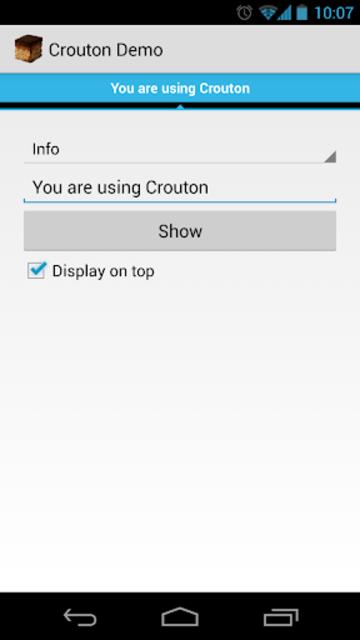 Crouton Demo Application screenshot 1