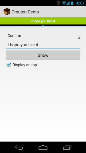 Crouton Demo Application screenshot 2