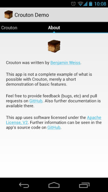 Crouton Demo Application screenshot 4