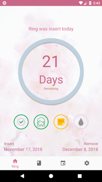 MyRing - Contraceptive ring screenshot 1