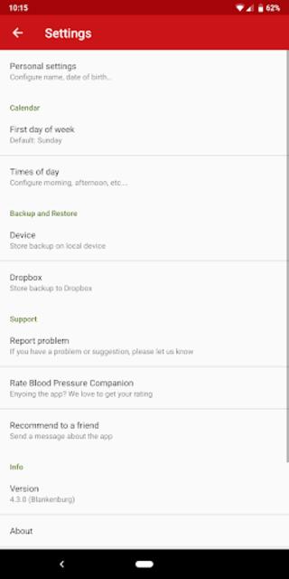 Blood Pressure Companion screenshot 8