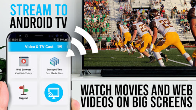 Video & TV Cast + Google Cast: Android TV Streamer screenshot 1