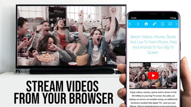 Video & TV Cast + Google Cast: Android TV Streamer screenshot 2