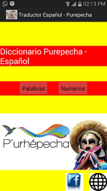 Traductor Español-Purepecha screenshot 1